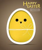 image of easter card  - Happy easter cards with easter egg - JPG