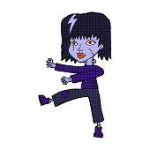picture of undead  - retro comic book style cartoon undead girl - JPG