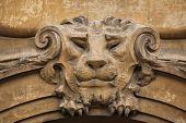 stock photo of building relief  - Lion head - JPG