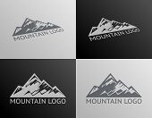 picture of iceberg  - Mountain Logo Symbol Icons Isolated Vector Illustration - JPG