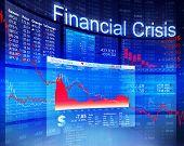 image of stock market crash  - Financial Crisis Economic Stock Market Banking Concept - JPG