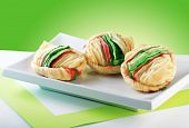 picture of bangla  - Three delicious and tasty milk solid filled puffs - JPG