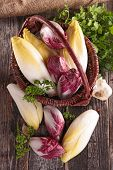 pic of chicory  - basket with chicory - JPG