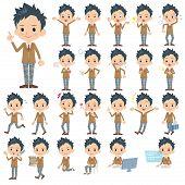 pic of blazer  - Set of various poses of blazer Schoolboy - JPG