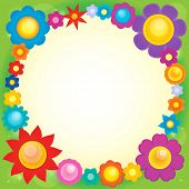 stock photo of six-petaled  - Frame with flower theme 6  - JPG