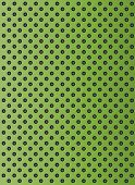 foto of metal grate  - Concept conceptual green abstract metal stainless steel aluminum perforated pattern texture mesh background as metaphor to industrial - JPG