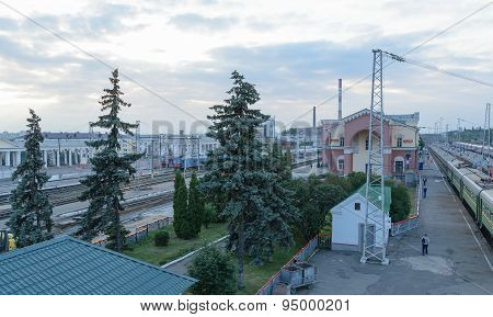 The Train Station And The Building Of The Railway Station In The City Of Orel In Russia