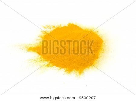 Pile of Turmeric (Curcuma) Powder