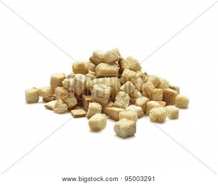 croutons on white background