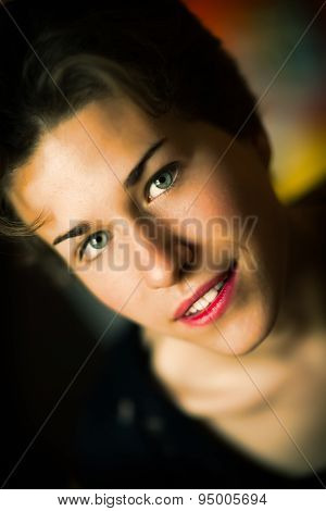 Portrait Of Girl Style Film Actress