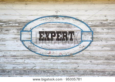 Expert sign on shed side