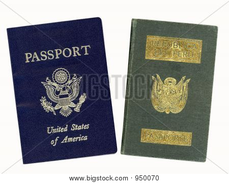 Us And Peru Passport