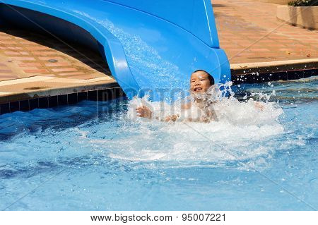 Boy Play Blue Slider