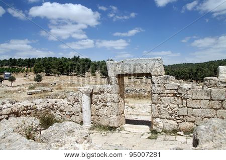 Ruins Of The Synagogue Of The 1St Century Ad, Israel