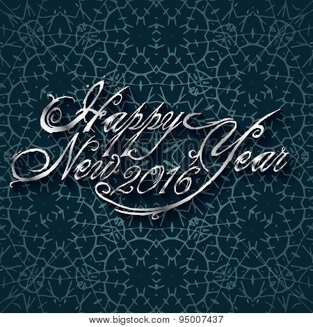 Beautiful Elegant Text Design Of Happy New Year. Vector Illustration 2016