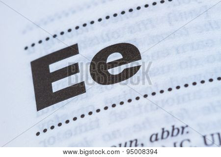 Letter E In Dictionary