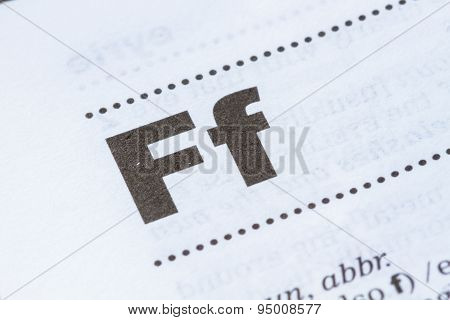 Letter F In Dictionary