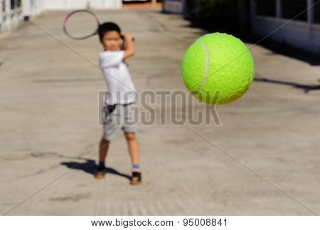 Tennis Ball Fly Closer