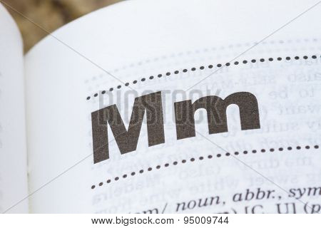Letter M In Dictionary
