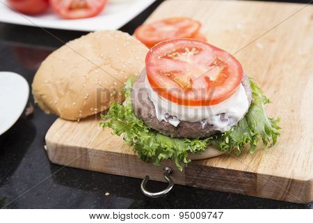 Decorated Hamburger