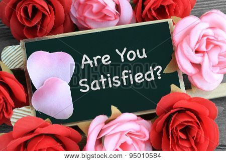 concept of are you satisfied