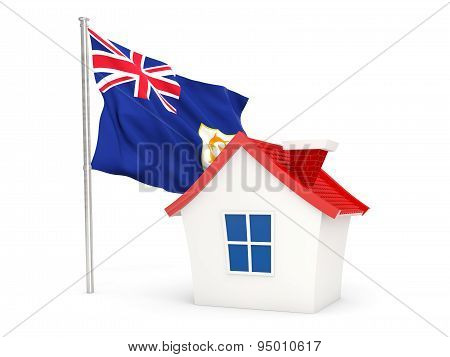 House With Flag Of Anguilla