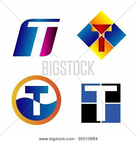 Alphabetical Logo Design Concepts. Letter T