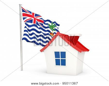 House With Flag Of British Indian Ocean Territory