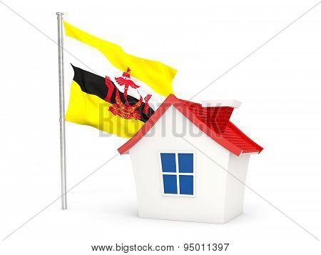 House With Flag Of Brunei