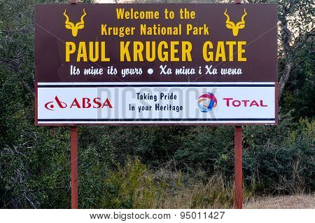 Paul Kruger Gate - Kruger National Park, South Africa