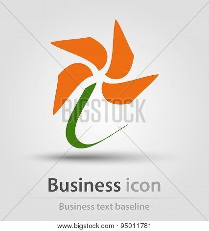 Abstract flower Business Icon