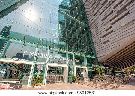 Guangzhou,china - April,16,2015:guangzhou Library Is A Modern Building In Guangzhou China.