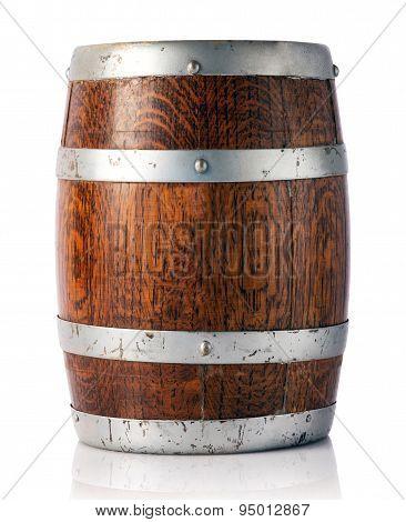 Oak Barrel For Storage Of Wine, Beer Or Brandy