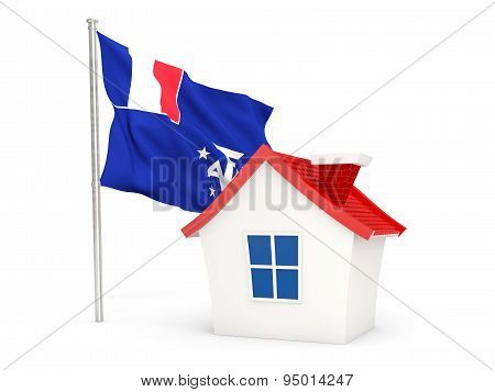 House With Flag Of French Southern Territories