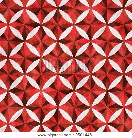 Seamless Pattern Of Red Rhombus