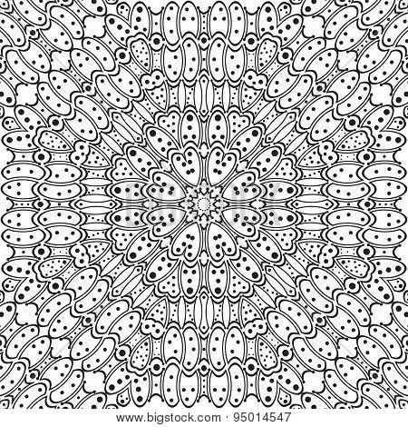 Seamless Round Pattern With Dots