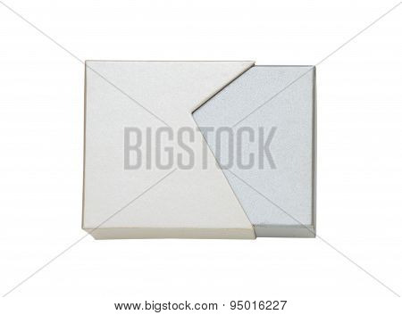 Close Up Of A White Box On White Background.