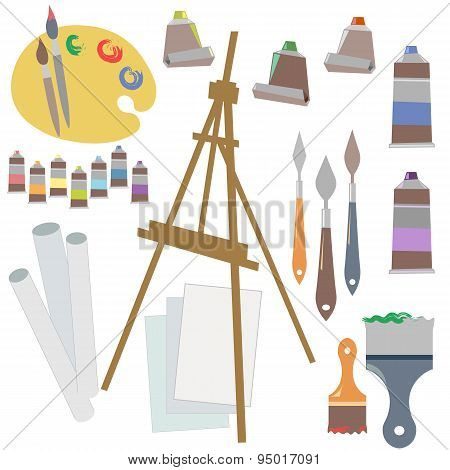 Paintings, Art Instruments For Painting, Drawing