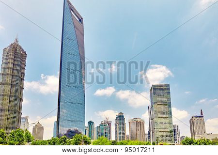 Shanghai,china- May 24 :beautiful And Office Skyscrapers, City Building Of Pudong, Shanghai, China.