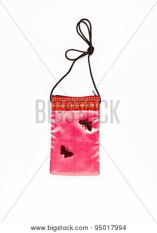 Fabric Bag  On White Background.