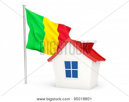 House With Flag Of Mali