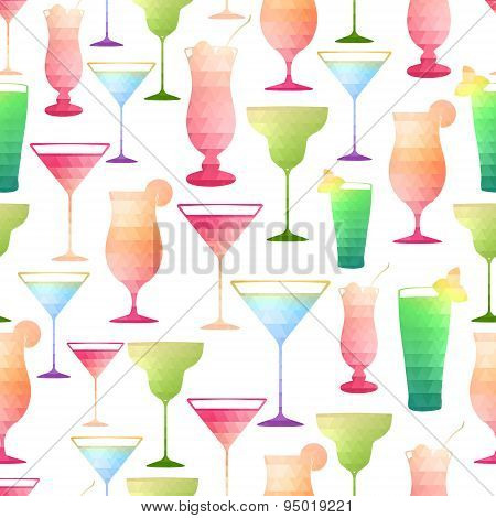 Seamless Cocktail Pattern