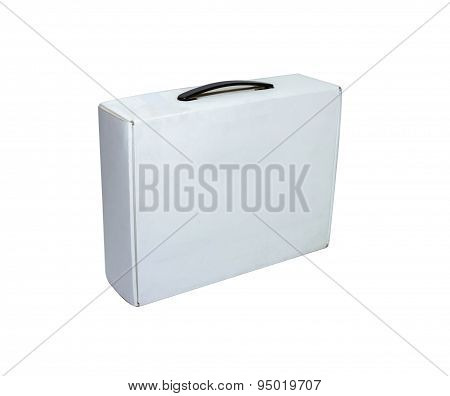 Blank Box On White Background On White Isolate With Clipping Path.