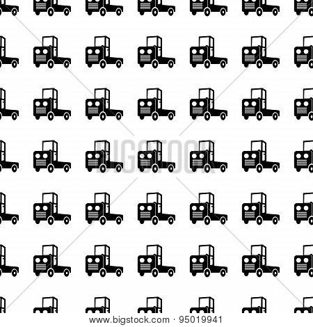 Lorry Seamless Pattern. Vector