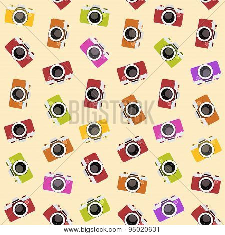 Seamless pattern with camera. vector illustration