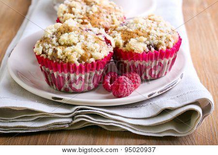 Raspberry Crumble Muffins