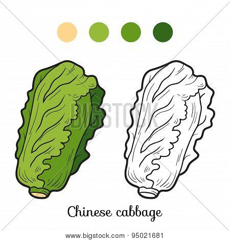 Coloring Book: Fruits And Vegetables (Chinese Cabbage)