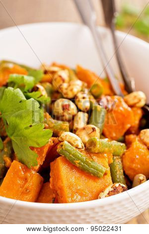 Sweet potato stew with green beans