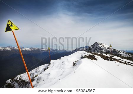 High Mountains Landscape View In Sochi