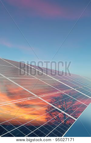 Solar Cell With Reflection